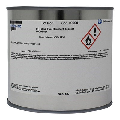 PPG PR1005L Integral Fuel Tank Slosh Coating Red 500ml Can *PPG-AFS 1841A *PPG-DTD900/4493 *NSN 8030-99-224-5158