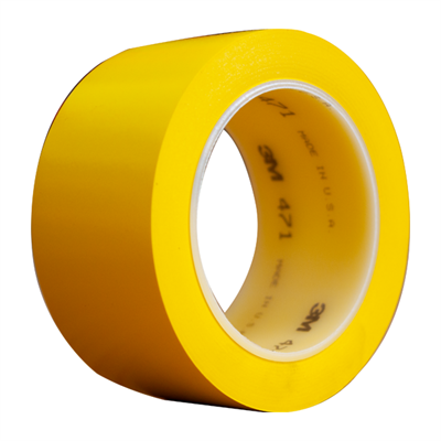 3M 471 Vinyl Tape Yellow 2in x 36yd Roll
