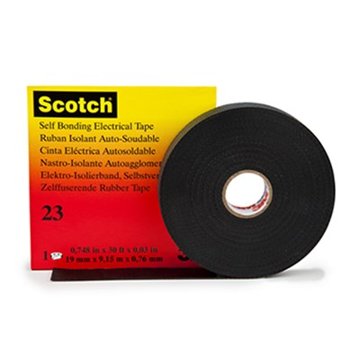 3M 23 Rubber Splicing Tape 19mm x 9.15Mt Roll
