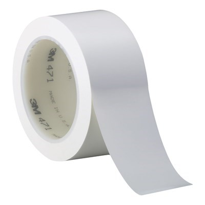 3M 471 Vinyl Tape White 2in x 36yd Roll