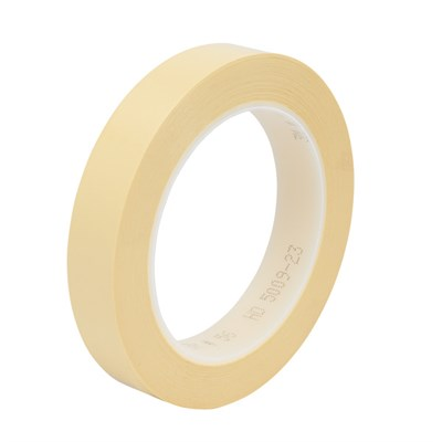 3M 56 Polyester Film Electrical Tape Yellow 25mm x 66Mt Roll