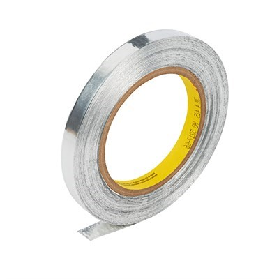 3M 425 Aluminium Foil Tape Silver 50mm x 55Mt (2in x 60Yd) Roll