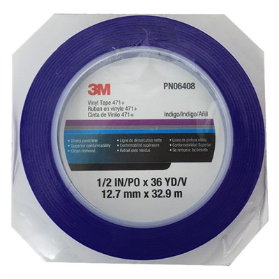 3M Fine Line Masking Tape 471+ Blue in various sizes