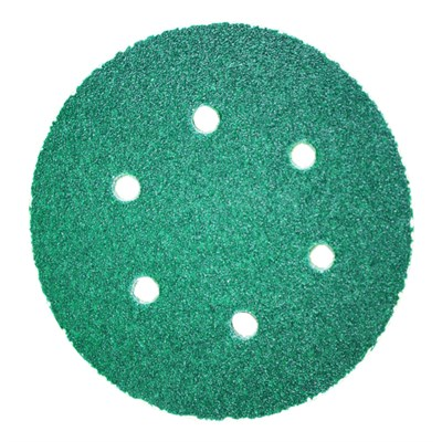 3M Hook-It Abrasive Disc 245 P40 Grit 6 Hole/150mm Green (Box of 50 Discs)