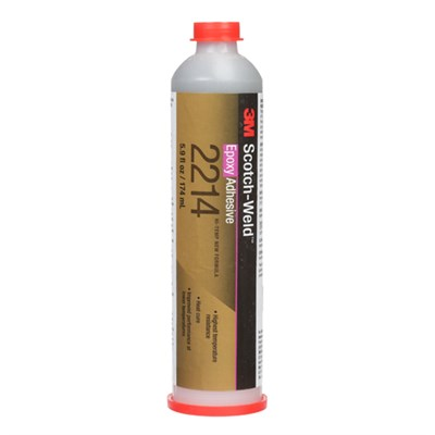 3M Scotch-Weld 2214 Hi-Temperature New Formula Grey Epoxy Adhesive 6oz Cartridge (Freezer Storage)