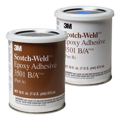 3M Scotch-Weld EC-3501 B/A Epoxy Adhesive Grey 1USP Kit