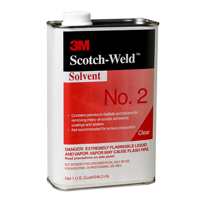 3M Scotch-Weld Solvent No.2 1Lt Tin