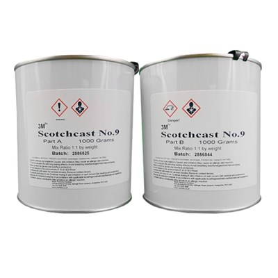 3M Scotchcast No.9 Electrical Filled Epoxy Liquid Resin 2Kg A/B Kit