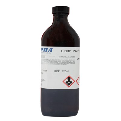 Alpha S5001B Curing Agent 170ml Glass Bottle