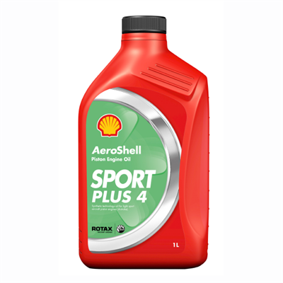 Aeroshell Oil Sport Plus 4 For Light Sport Aviation Piston Engines 1Lt Bottle