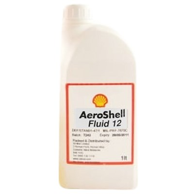Aeroshell Fluid 12 Synthetic Ester Oil 1Lt Bottle *MIL-PRF-6085E *9150-00-223-4129