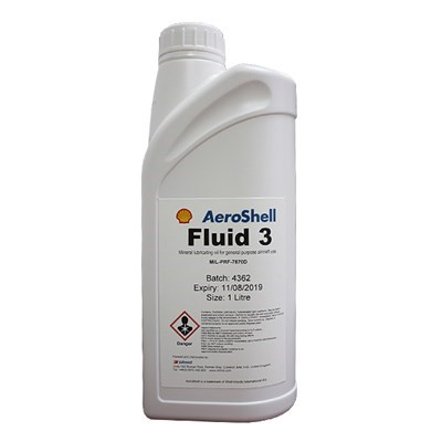 Aeroshell Fluid 3 General Purpose Mineral Lubricating Oil 1Lt Bottle *DEF STAN 91-47 *MIL-PRF-7870D *OM-12