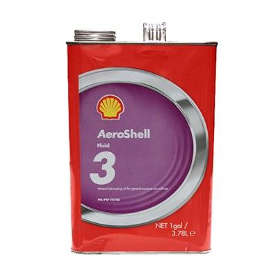 Aeroshell Fluid 3 General Purpose Mineral Lubricating Oil 1USG Can *DEF STAN 91-47 *MIL-PRF-7870D *OM-12