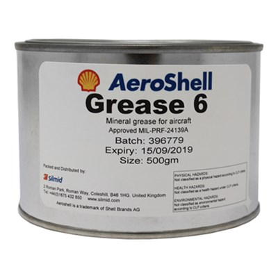 Aeroshell Grease 6 General Purpose Grease (XG-271) (G-382)  500gm Tin *MIL-PRF-24139A