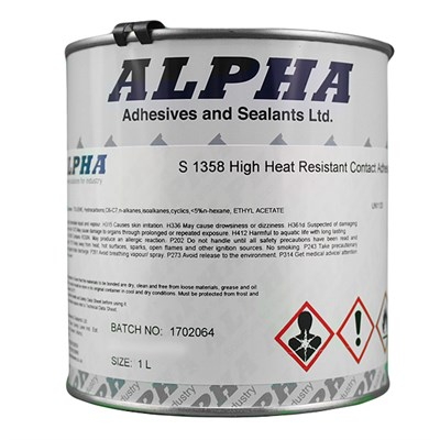 Alpha S1358 High Heat Resistance Brushable Adhesive 1Lt Can