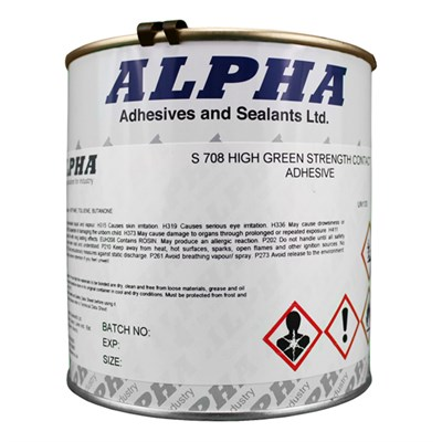 Alpha S708 High Strength Contact Adhesive 1Lt Can