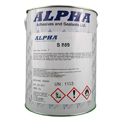 Alpha S889 Mod Grade Brushable Adhesive 5Lt Can DEF STAN 80-57