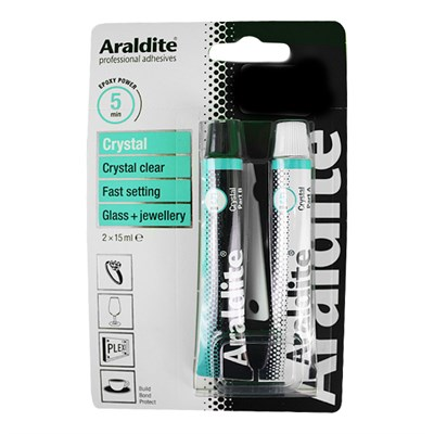 Araldite Crystal 2 x 15ml Tube