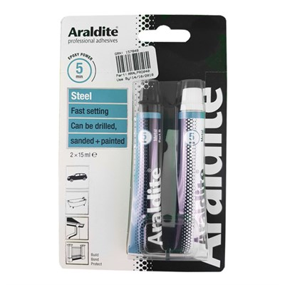 Araldite Steel Resin & Hardener 2 x 15ml Tubes