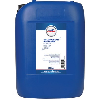 Arrow Chloroclean (with Foam) Alkaline Cleaner 20Lt Drum