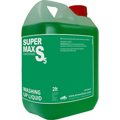 Arrow Supermax S5 Washing Up Liquid Concentrate 2Lt Bottle