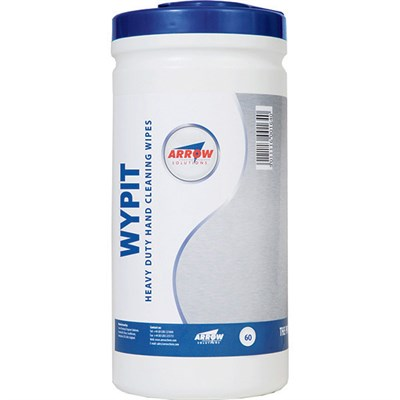 Arrow Wypit Hand Cleansing Wipes 60 Wipe Tub