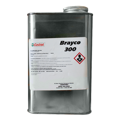 Castrol Brayco 300 Water Displacing Lubricating Oil (OX-18) (O-190) 1USQ Can *MIL-PRF-32033 Type I