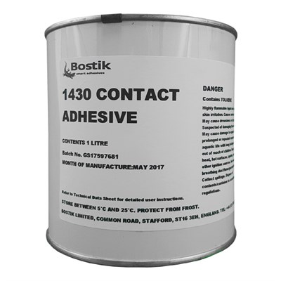 Bostik 1430 Contact Adhesive 1Lt Tin *AFS1596