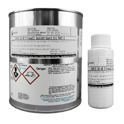 Dapco 18-4F Silicone Firewall Sealant 1USQ Kit *BMS5-63 Revision N Form K Class B4 Type I