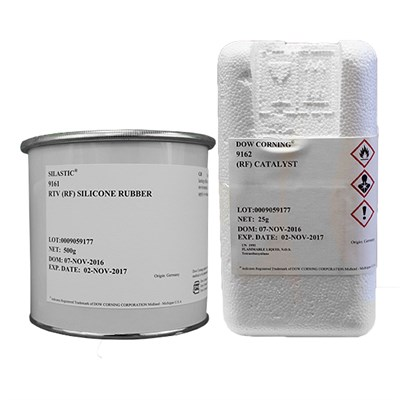 Dow SILASTIC™ 9161 Low Viscocity Silicone Elastomer 525gm Kit (Includes 9162 RF Catalyst)