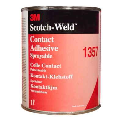 3M Scotch-Weld 1357 Sprayable Contact Adhesive (Brown/Green) 1Lt Tin