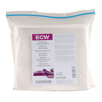 Electrolube Ecw Engineer'S Cleaning Wipes (Pack Of 25 Wipes)