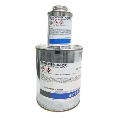 Enthone 50-403R CAT-L-INK Light Blue Screen Printing Ink and Catalyst 9 A/B Kit (Part A=1USQ/Part B=4oz)