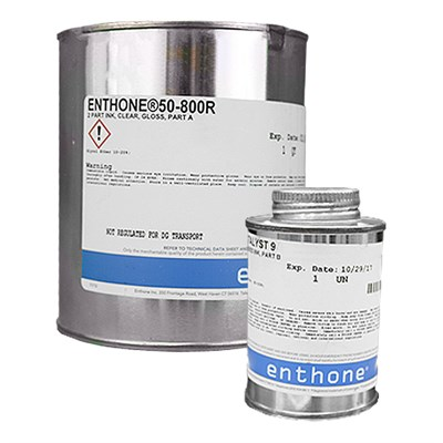 Enthone 50-800R CAT-L-INK Gloss Clear Screen Printing Ink and Catalyst 9 A/B Kit (Part A=1USQ/Part B=4oz)