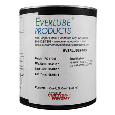 Everlube 9002 Water Based MoS2 Solid Film Lubricant 1USQ Can *MIL-PRF-46010