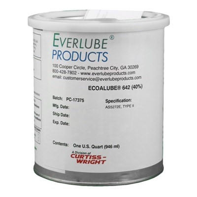 Everlube Ecoalube 642 (40% Concentrate) MoS2 Based Solid Film Lubricant 1USQ Tin