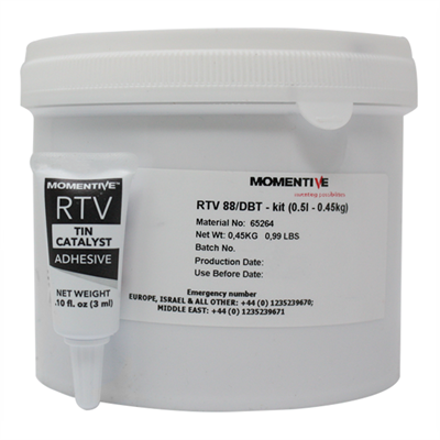 Momentive RTV 88 High Temp Silicone Red and DBT Catalyst 1Lb (454gm) Kit  (Freezer Storage -18°C)
