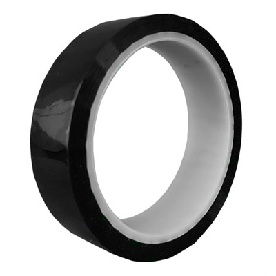 H143B Silicone Adhesive Black Polyimide Tape 25mm X 33Mt Roll