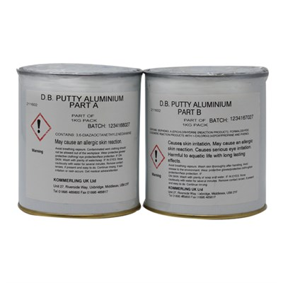 Double Bond Putty 2 Part Structural Adhesive/Filler Aluminium 1Kg Kit