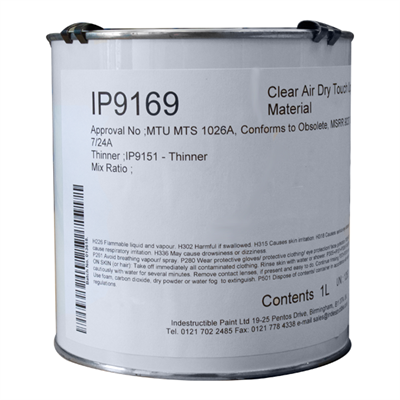 Indestructible Paint IP9169 Clear Touch Up Varnish 1Lt Tin *OMAT 7/24A
