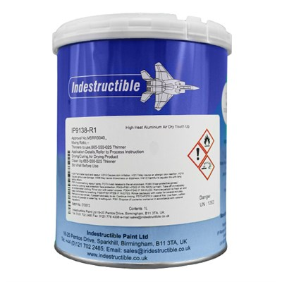 Indestructible Paint IP9138-R1 Skydrol Resistant Aluminium Paint 1Lt Can *MSRR9040