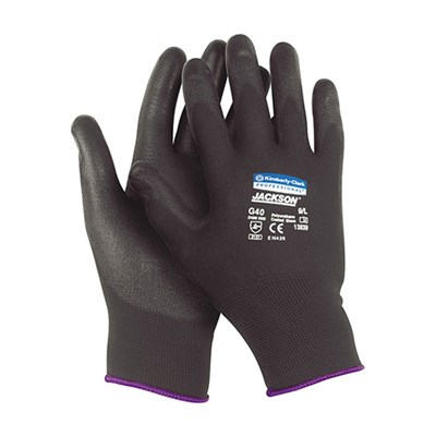 Jackson Safety* G40 Polyurethane Coated Mechanical Protection Glove Black Size 9 L (Pack Of 12 Pairs)