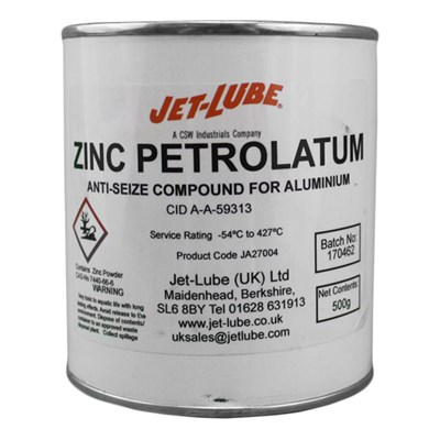 Jet-Lube Zinc Petrolatum Anti Seize Compound 500gm *CID-A-A-59313