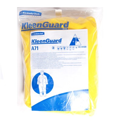Kleenguard* A71 Chemical Permeation And Liquid Jet Protection Coverall Yellow Size XXL