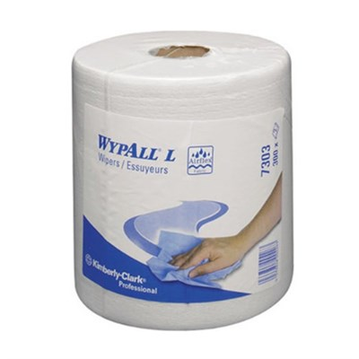 Kimberly Clark 7303 Wypall L20 Extra Wipers White 18.5cm x 42.5cm 300 Sheet Centrefeed Roll (Pack of 6)