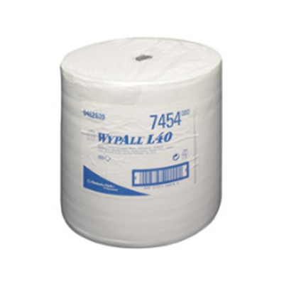Kimberly Clark 7454 Wypall L40 Wipers White 34cm x 32cm 950 Sheet Roll
