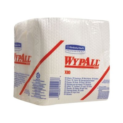 Kimberly Clark 8388 Wypall X80 Cloths White 30.5cm x 31.8cm 50 Sheet Bag