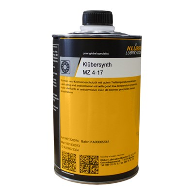 Klubersynth MZ 4-17 Lubricating Corrosion Protection Oil 1Lt Can