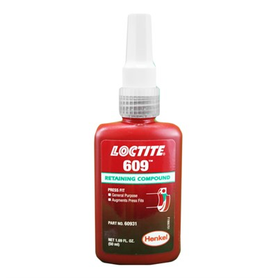 Loctite 609 Anaerobic Retainer Bottle *MIL-R-46082B in various sizes