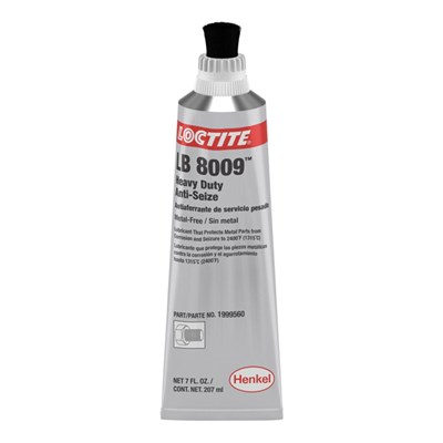 Loctite LB 8009 Heavy Duty Anti-Seize (Metal Free) 207ml Brush Top Tube